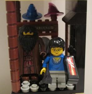 Visiting Diagon Alley with Hagrid